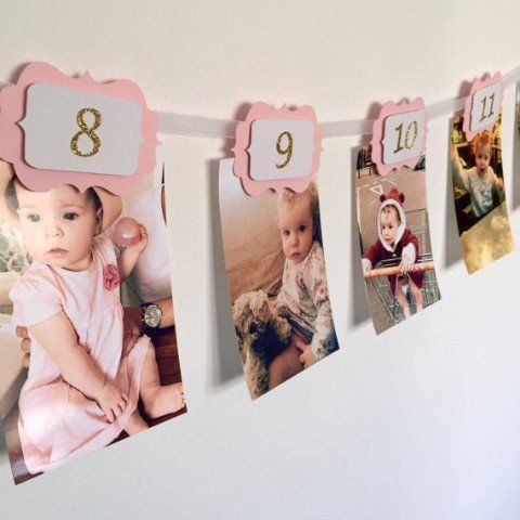 This 12 months banner is ideal to show your little one's first year journey month by month. It will give...