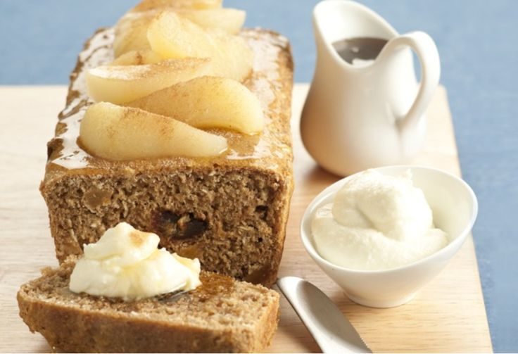 Treat yourself to a cafe-style teatime treat with this pear and date take on the classic banana bread.