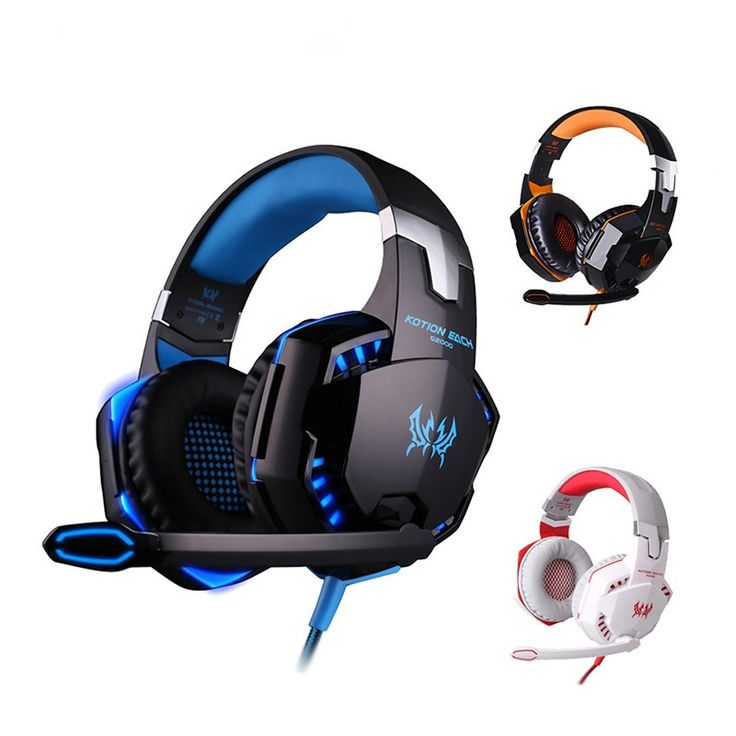 On sale US $18.99  Hot High Quality Kotion EACH G2000 Deep Bass Gaming Headset Earphone Headband Stereo Headphones with Mic LED Light for PC Gamer  Get discount for product: Laptop