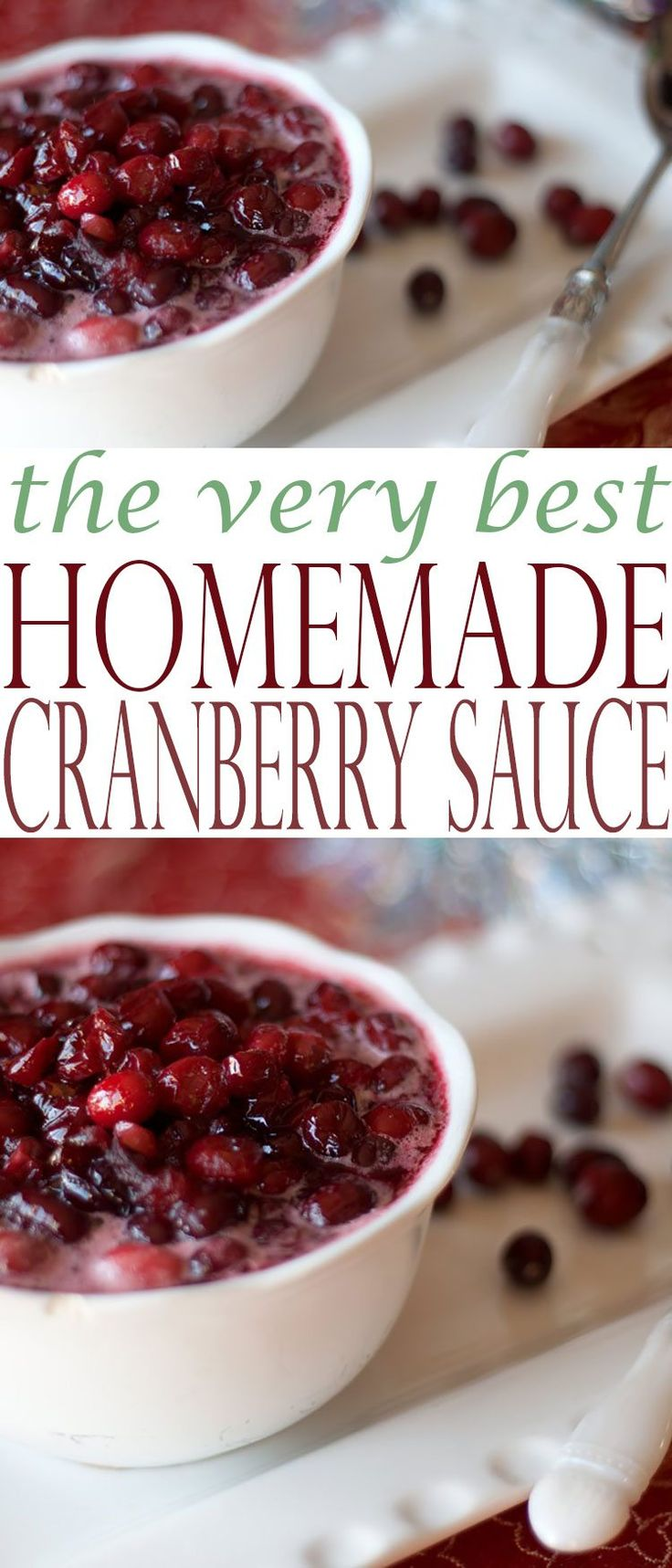 Homemade Cranberry Sauce Recipe is the perfect cranberry sauce for any holiday: Thanksgiving, Easter, Christmas, or any other occasion.
