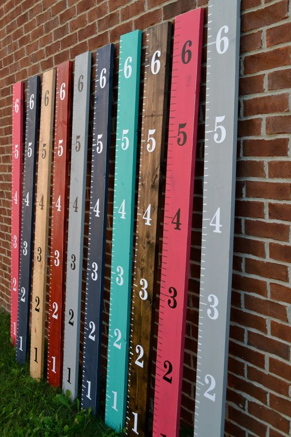 Wooden Ruler Growth Chart ready to hang by ShopOfSunshine on Etsy