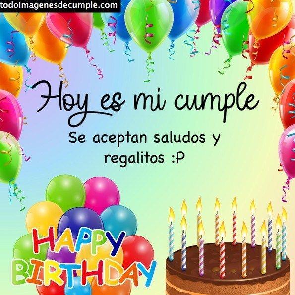 Imágenes De Cumple Para El Estado Whatsapp Imágenes De Cumpleaños Tarjetas De Feliz Cumpleaños Feliz Día De Cumpleaños