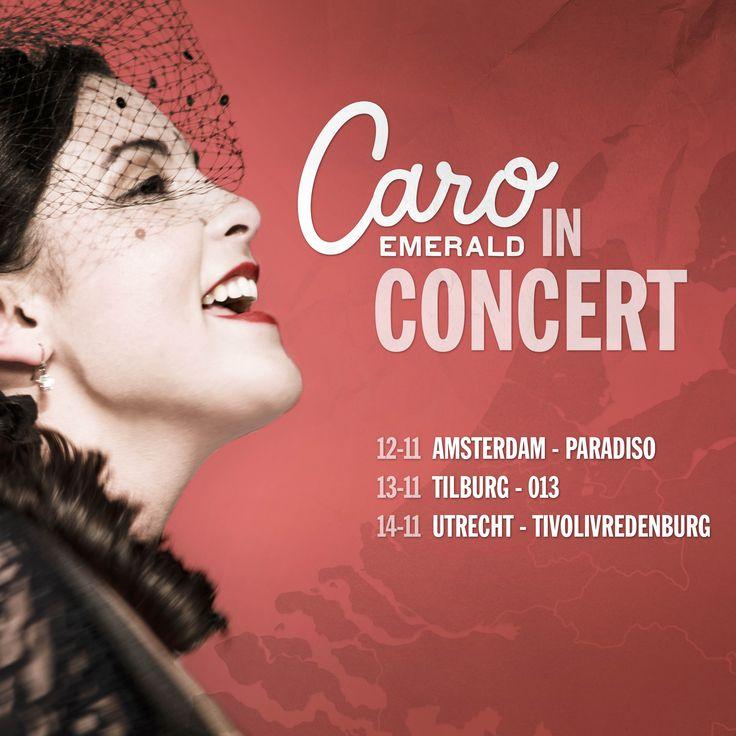 Paradiso, 013, TivoliVredenburg! Op 12, 13 en 14 november treed ik weer op in drie van de mooiste popzalen van Nederland! Tot dan! ;-) Tickets gaan vrijdag 20 februari in de voorverkoop #europeantour2015 #zinin