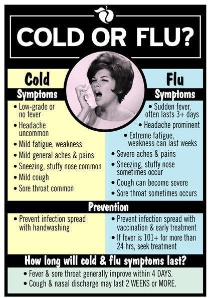 Cold vs Flu... I hate the cold, stupid runny nose