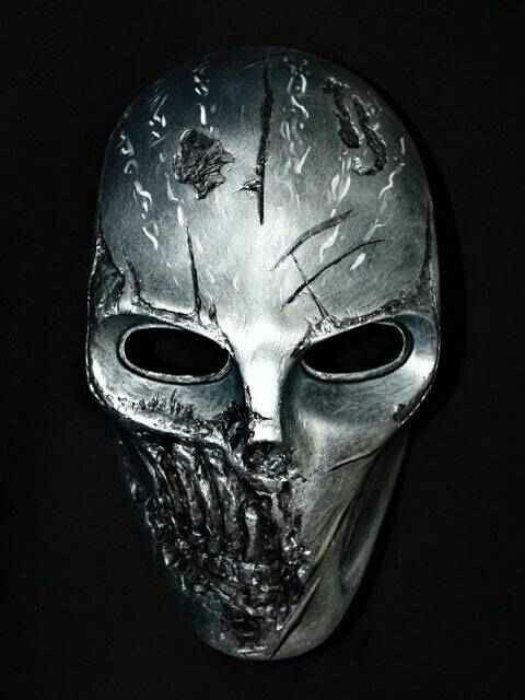 Silver# metal# scary# mask