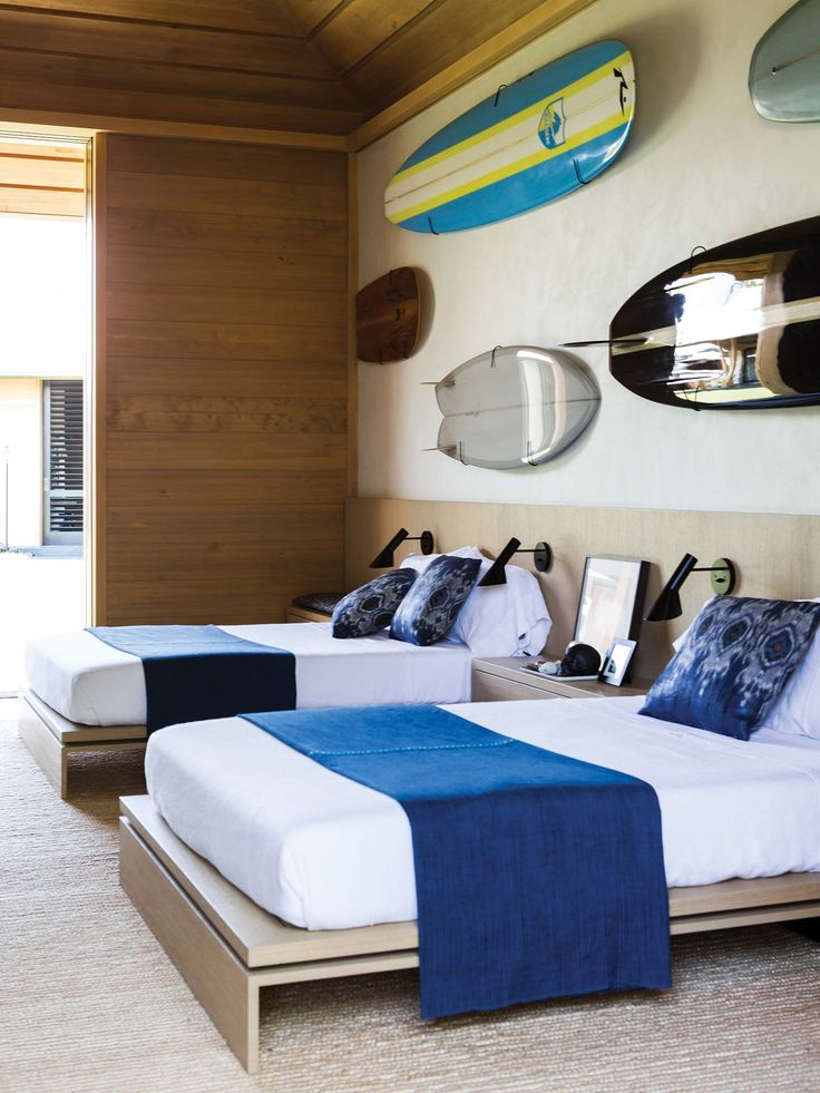 Kona Coast Retreat | Interior Design - Hawaii - Bedroom - Surf Theme #NICOLEHOLLIS Photo by Laure Joliet