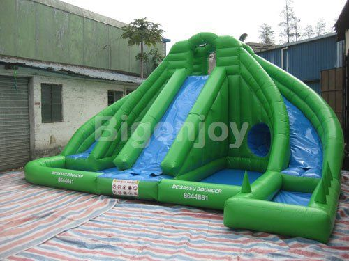 Inflatable Water Slide with Pool