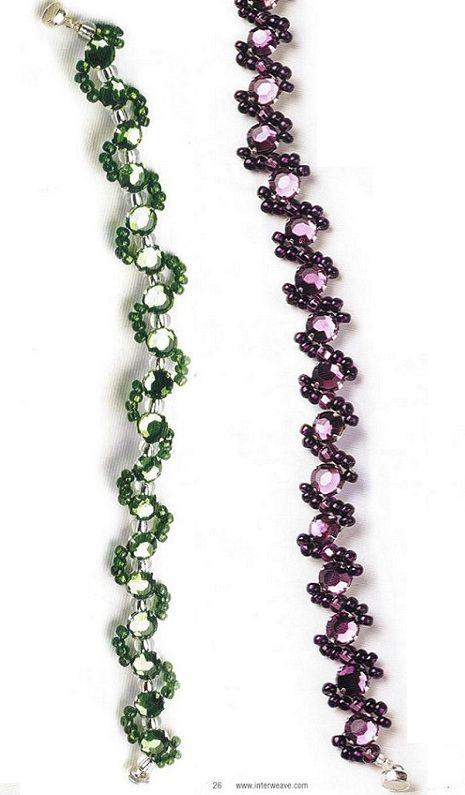 snake bracelets from beads