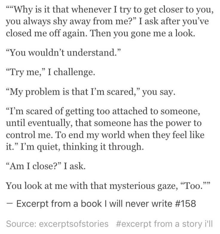 Excerpt from a book I will never write #158