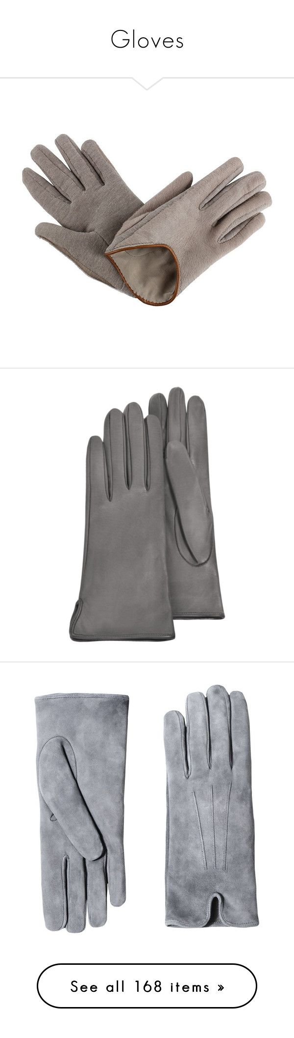 """Gloves"" by vicipokemon ❤ liked on Polyvore featuring accessories, gloves, beige, leather gloves, beige gloves, beige leather gloves, аксессуары, brunello cucinelli, grey gloves and lined gloves"