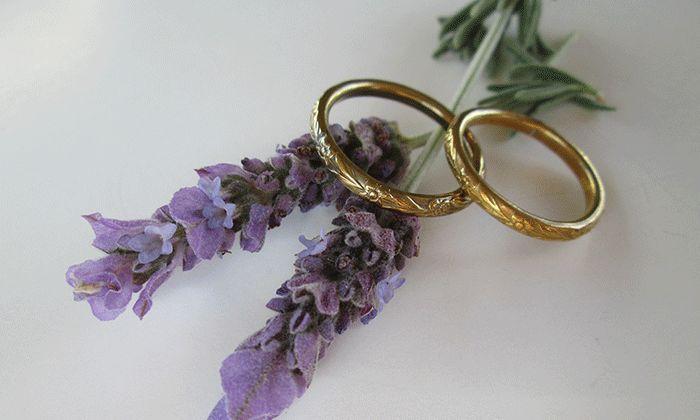 Floral Brass Rings #flowers #lavender #jewellery #handmade #patterns