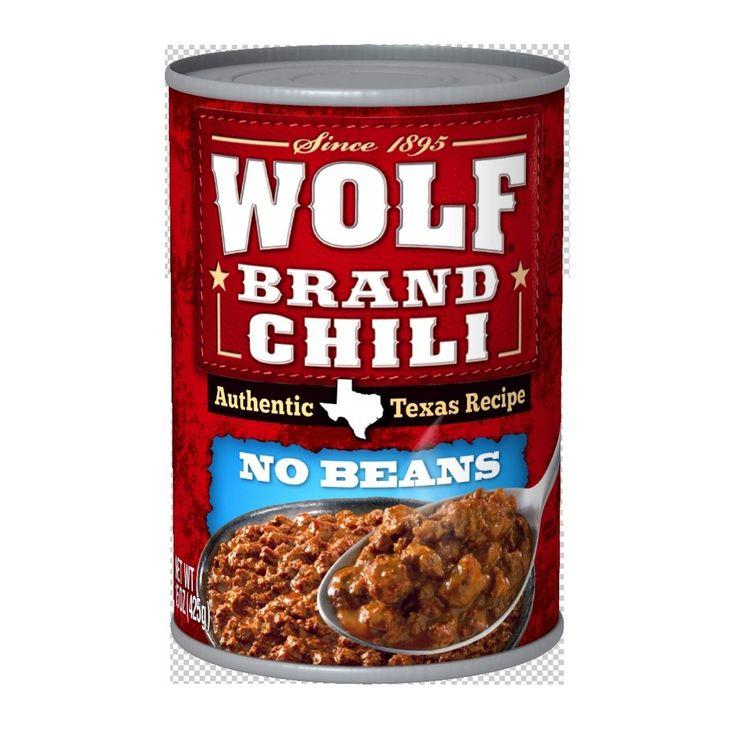 Wolf Plain Chili 15 oz Wolf brand chili, Chili, Texas food