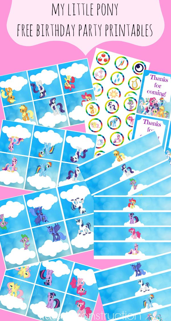 my little pony party printables: delicateconstruction.com