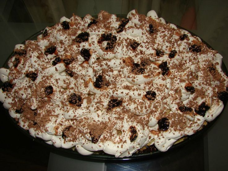 prajitura cu crema de cacao si dulecata de visine