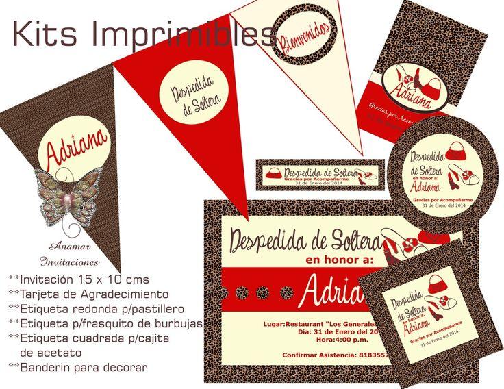 Diseño para Despedida de Soltera Disponible como Kit Imprimible ó impreso