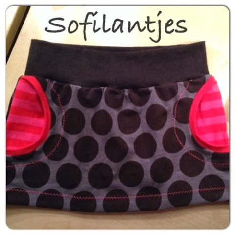 free pattern skirt - Made by Sofilantjes-Love the pockets!