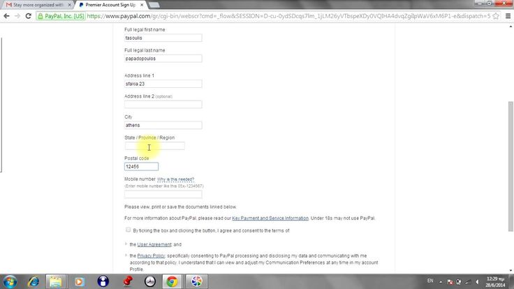 How to create Pay Pal account 2014 new easy fast!!!