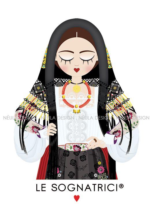 Le Sognatrici - Abito Tradizionale di Oliena - Sardegna - traditional dress - sardinia -