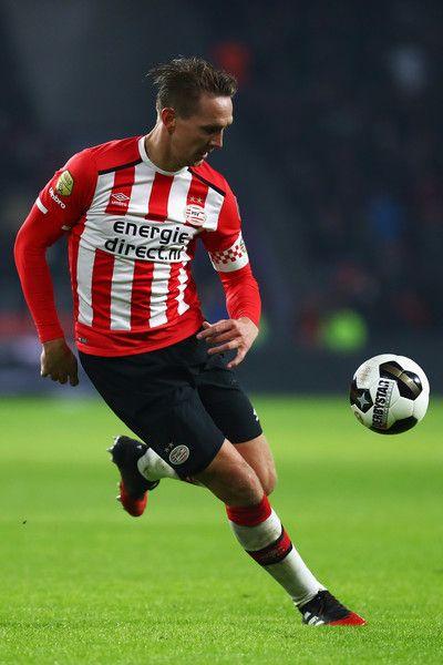 Luuk de Jong of PSV in action during the Dutch Eredivisie match between PSV Eindhoven and SC Heerenveen held at Philips Stadion on January 22, 2017 in Eindhoven, Netherlands.