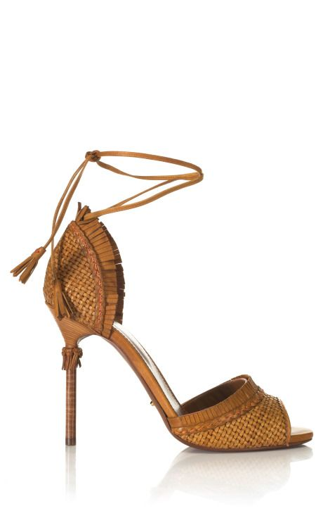 Sergio Rossi  Kalhari Woven Sandal  on Moda Operandi