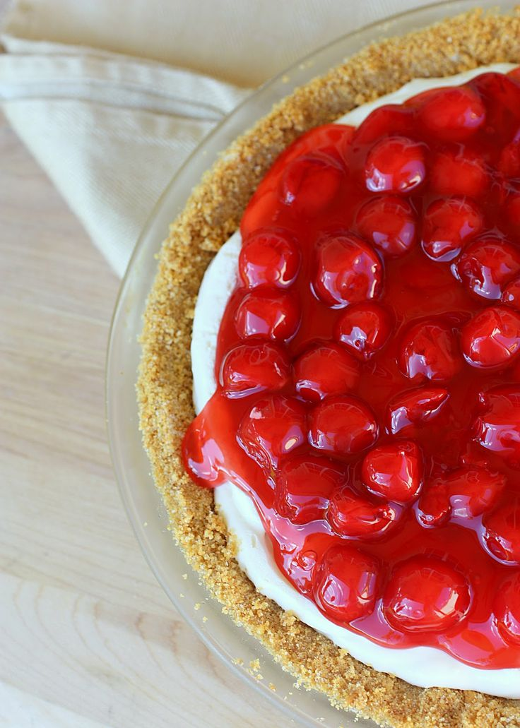 Cherry Cheese Pie - a traditional pie for my family every year. the-girl-who-ate-everything.com