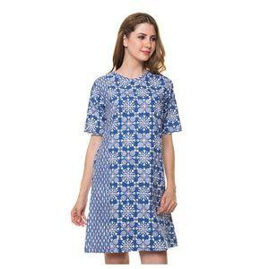 Dress Biru STG FLW