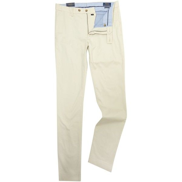 Polo Ralph Lauren Stretch Slim Fit Chino ($155) ❤ liked on Polyvore featuring men's fashion, men's clothing, men's pants, men's casual pants, men trousers, mens pants, mens slim pants, mens slim fit chino pants, mens slim fit pants and polo ralph lauren mens pants