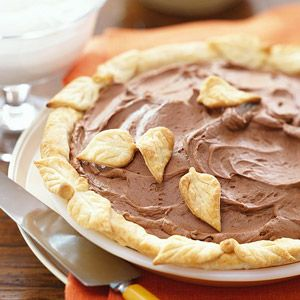Make this rich chocolate pie ahead so it has plenty of time to chill before guests arrive.