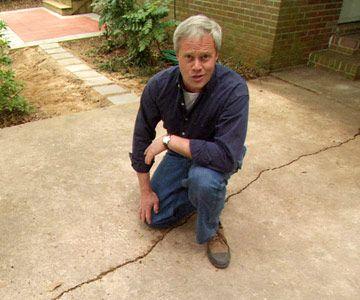 Repair Cracks in a Concrete Driveway
