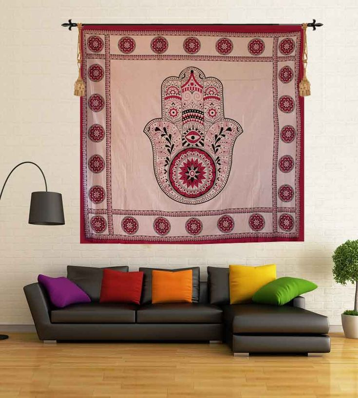 Horoscope red print spiritual wall tapestry. Perfect for topping a bed, couch, wall or your favorite chair.This Wall Tapestry can also be used as a: - Tapestry or a Wall Hanging, Bedspread, Bed Cover, Table Cloth, Curtain, Dorm Decor, Picnic Sheet Add an ethnic feel to your room with this cotton handmade wall hanging.