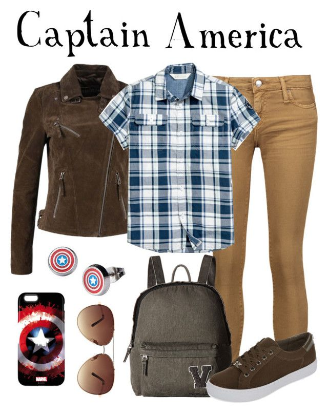 """Steve Rogers / Captain America"" by waywardfandoms ❤ liked on Polyvore featuring IRO, Vans, Liz Claiborne, Marvel and Ashley Stewart"