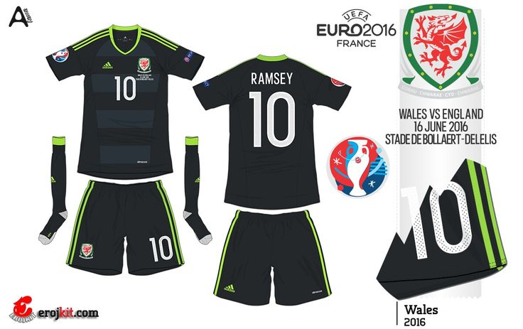 Wales away kit for Euro 2016.