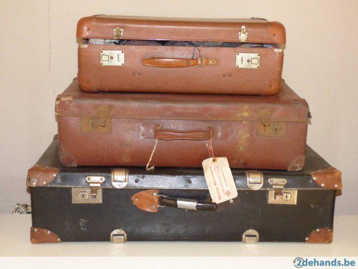 Zéér oude reiskoffers in Heusden-Zolder Heusden