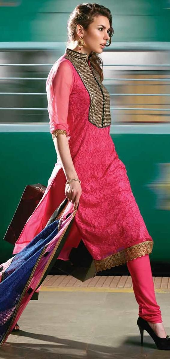Georgette Dress Material . Comes With Lining. Stylish And Ethnic Indian Wear