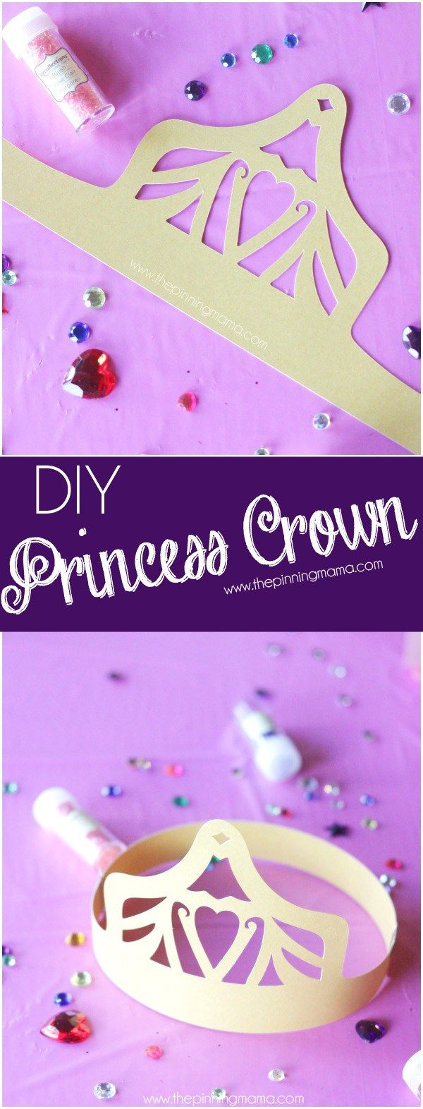 Free Wearable Kids Princess Crown Cut file for Silhouette - File formats included SVG, DXF, PDF, .Studio3 #sofiathefirst #ad