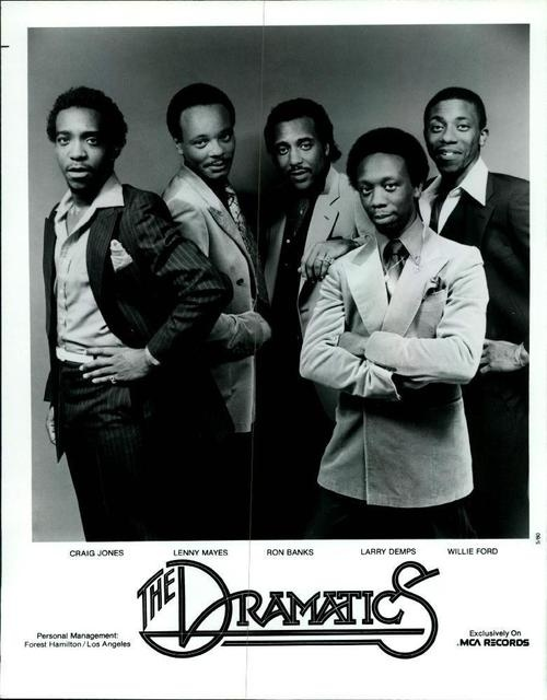 """The Dramatics are a soul music vocal group, formed in 1962 with the name The Dynamics. They changed their name by 1967, when they garnered their first minor hit """"All Because Of You."""" However, the group didn't break through until their 1971 single, """"Whatcha See Is Watcha Get."""" Their members at this time were Ron Banks, """"Wee Gee"""" Howard, Elbert Wilkins, Willie Ford and Larry Demps."""