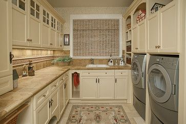 Love this - too fancy - but ultimate laundry room.  Laundry Room & Pantry - traditional - laundry room - seattle - Provanti Designs, Inc