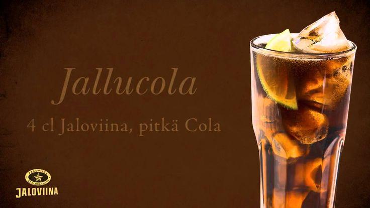 Jallucola #jallukola - 4cl Jaloviina + pitkä Cola #drinkki #resepti #viina #alkoholi #mainos