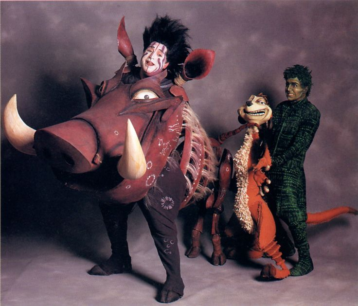lion king school play costume | Pumbaa and Timon, from The Broadway production of The Lion King