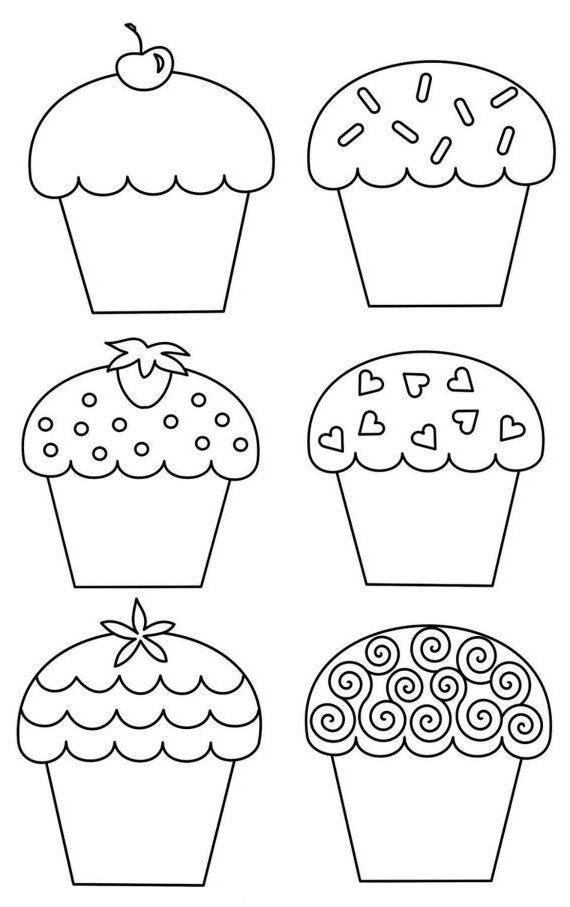 """Delicado Cantinho: Riscos Patchcolagem e Ponto Russo """"Cupcakes"""""""