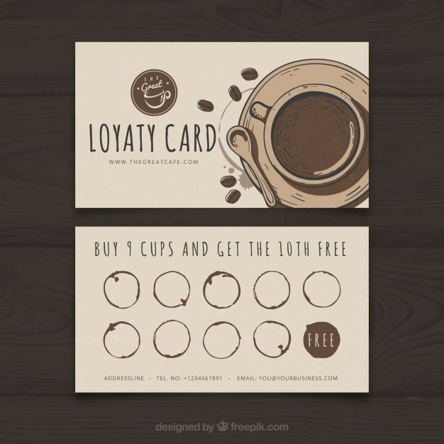 Download Coffee Shop Loyalty Card Template With Elegant Stye For Free Coffee Shop Business Card Loyalty Card Template Loyalty Card Coffee