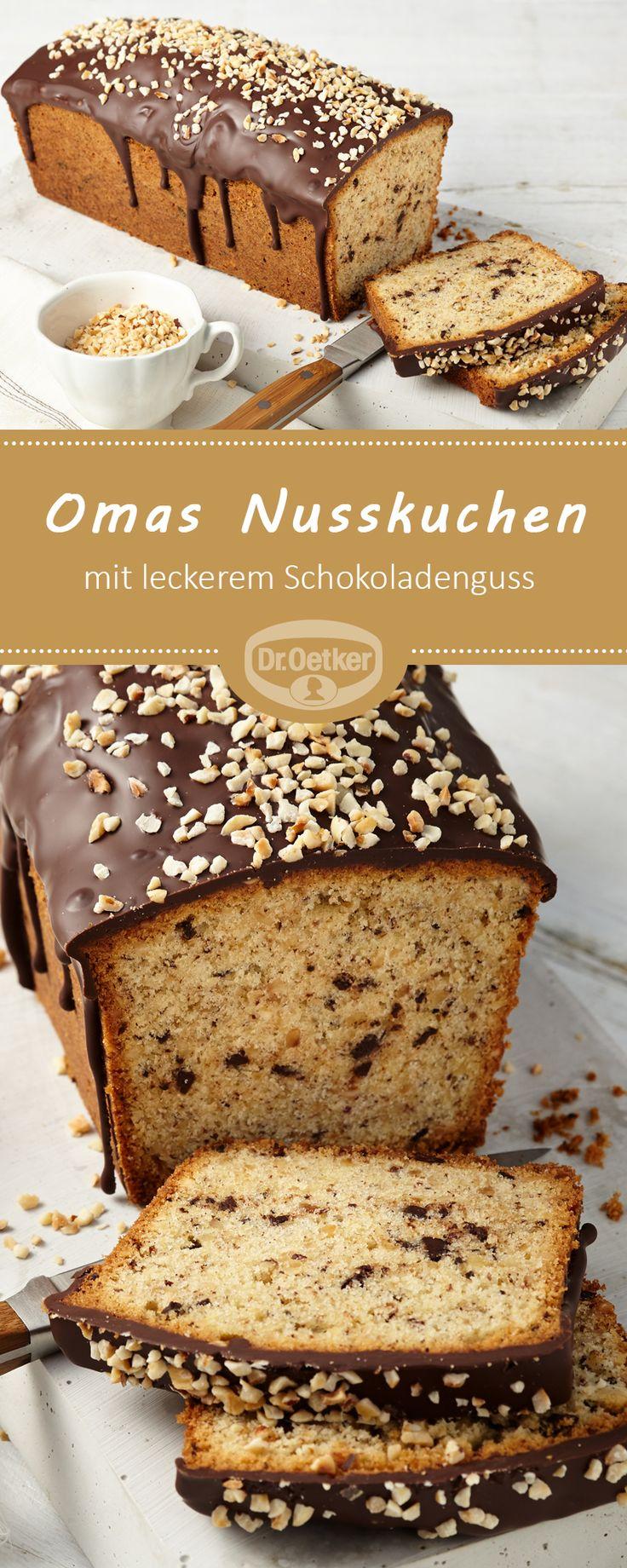 Omas Nusskuchen: Ein schokoladiger Haselnusskuchen mit Guss