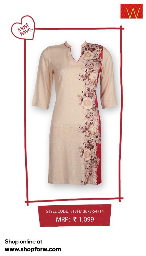 Presenting a very elegant kurta with intricate oriental crafting and subtle design. Such cannot be missed! Shop for it online, click here www.shopforw.com
