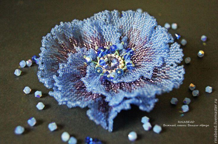 Купить или заказать брошь 'Голубой гибискус' в интернет-магазине на Ярмарке Мастеров. Брошь выполнена из мельчайшего японского бисера и кристаллов Сваровски. Возможно выполнение подобного цветка в другом цвете(под заказ) Цена может варьироваться, поэтому уточняйте, пожалуйста, подробнее в личной переписк…
