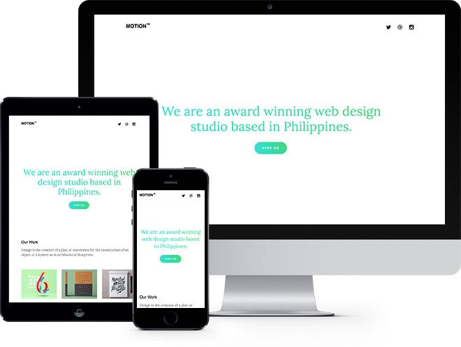 Motion: Free Website Template for Personal and Portfolio Websites - Free Responsive HTML5 Template