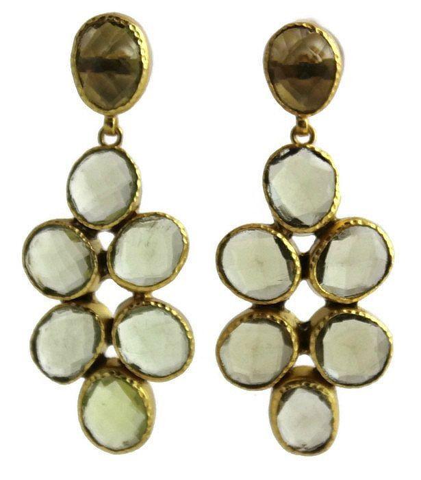 Ina Citrine Chandelier  Earrings