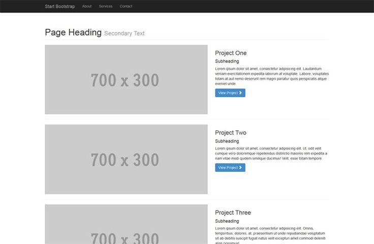 32 best html bootstrap clean templates images on pinterest 1 col portfolio httpironsummitmediathubstartbootstrap 1 malvernweather Gallery