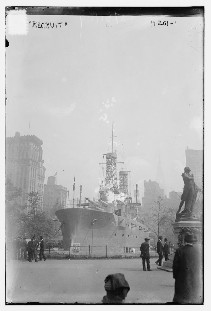 That time NYC built a battleship in the heart of Union Square