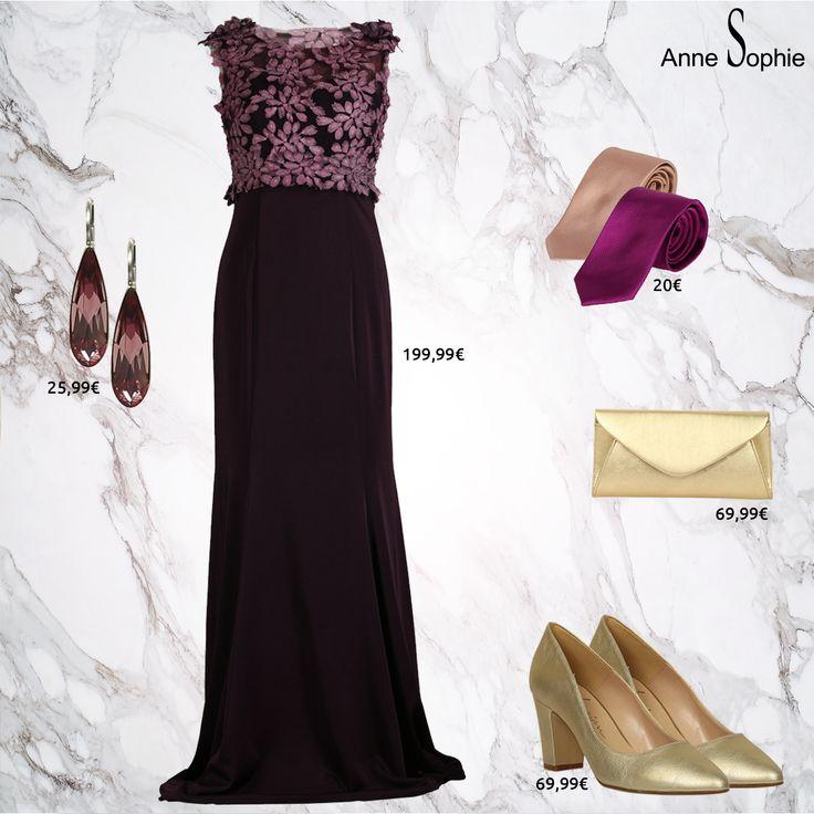 On craque toutes pour cette magnifique robe de cocktail avec le buste brodé de feuilles scintillantes. Cette robe est dotée d'une doublure jusqu'à la poitrine et le dos est légèrement transparent.  Een betoverende en verfijnde lange jurk waarvan het transparante topje is afgewerkt met glinsterende bloemblaadjes.