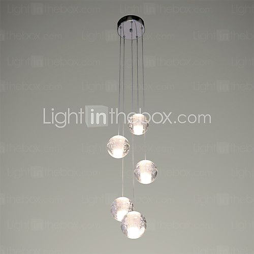 UMEI™ Modern Pendant Lights Pendant Lamp 5 Lights G4 Retroifit Chrome Plating Crystal for Dining Room Stairs Light 2017 - $180.19